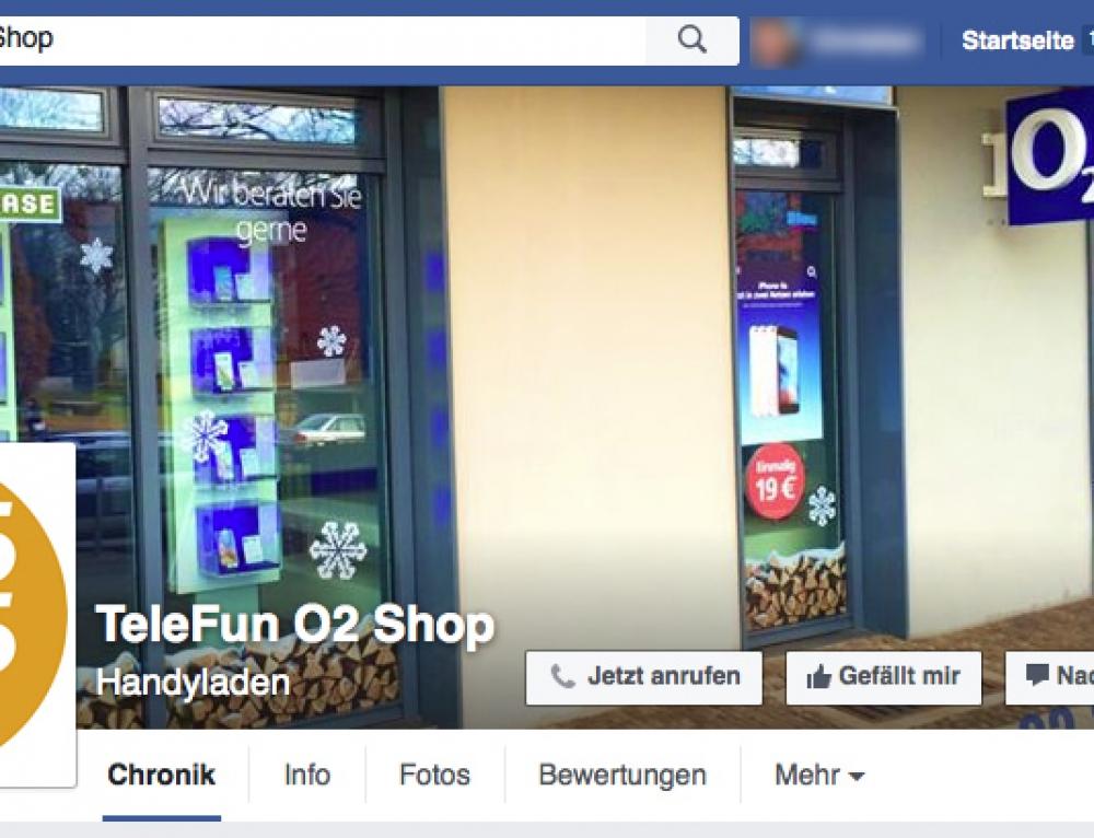 Social-Media: Facebook Firmenseite für TeleFun