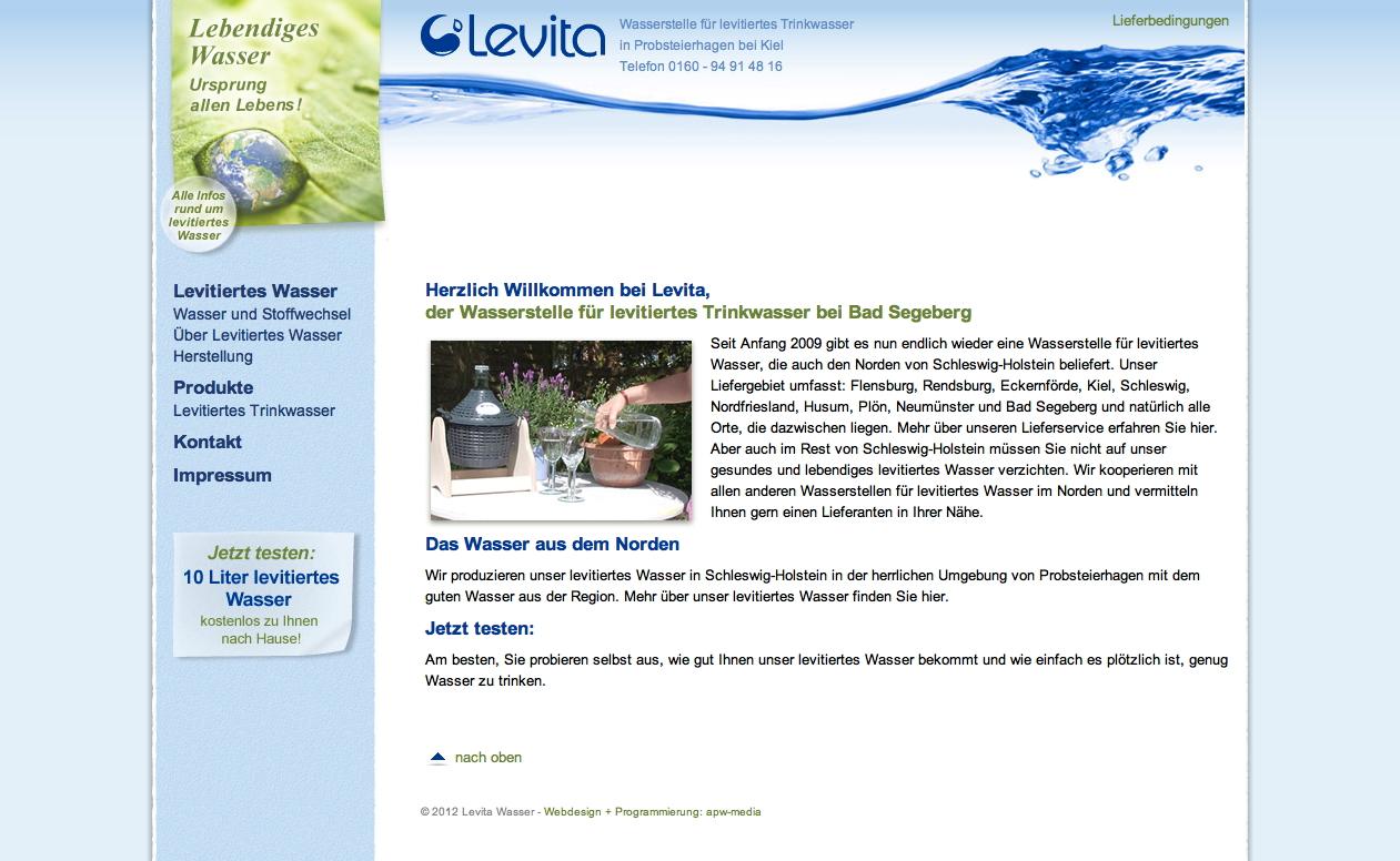 Levita - levitiertes Trinkwasser bei Kiel