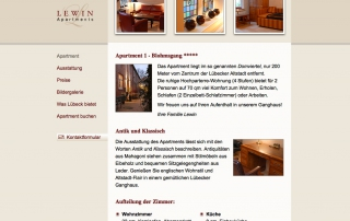 Website Lewin Apartments Lübeck