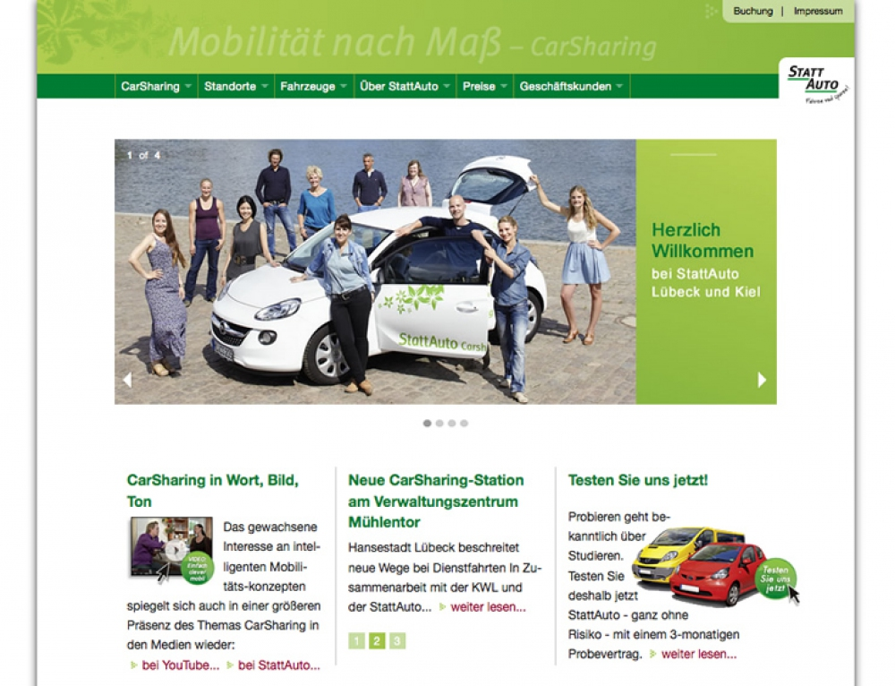 Website StattAuto CarSharing
