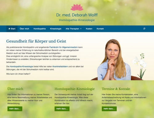 Website Dr. Wolff mit WordPress