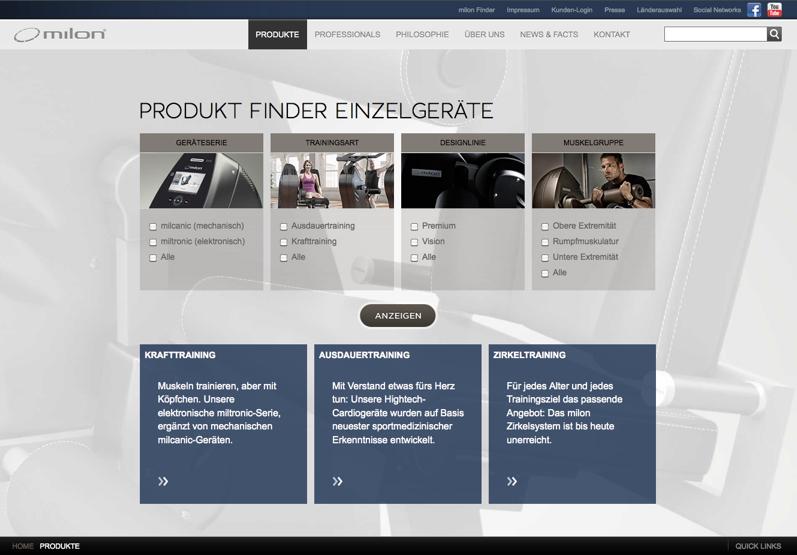 Produkt Finder Trainingsgeräte