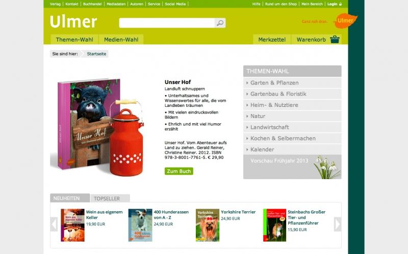 Website ULMER Verlag