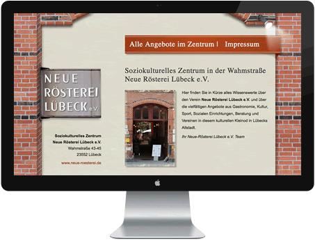 Website Kulturelles Zentrum Lübeck