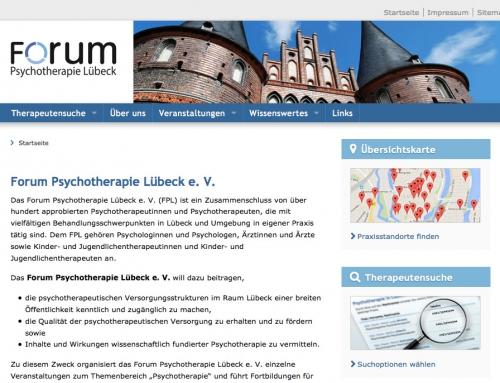Website Forum Psychotherapie Lübeck