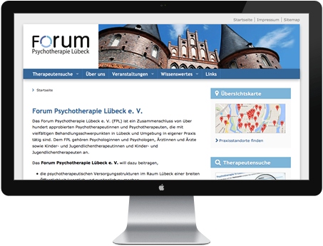 Website Forum Psychotherapie Lübeck