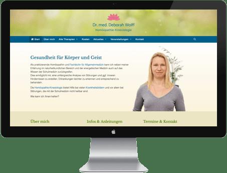 Website Webdesign Homöopathie