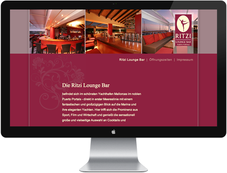Webvisitenkarte Bar - Cafe