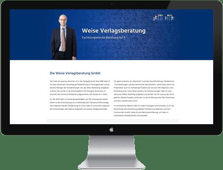 One-Pager Website aus Lübeck für Verlag
