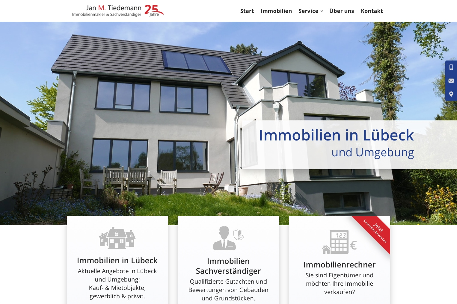 Immobilien Website Wordpress