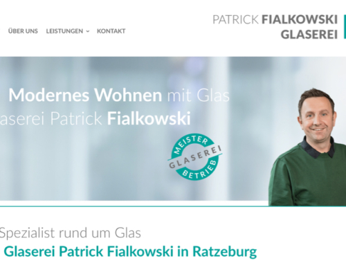 Glaserei Website mit WordPress