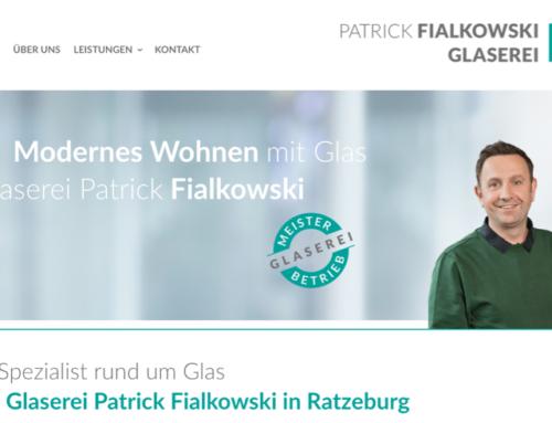 Glaserei Website mit WordPress
